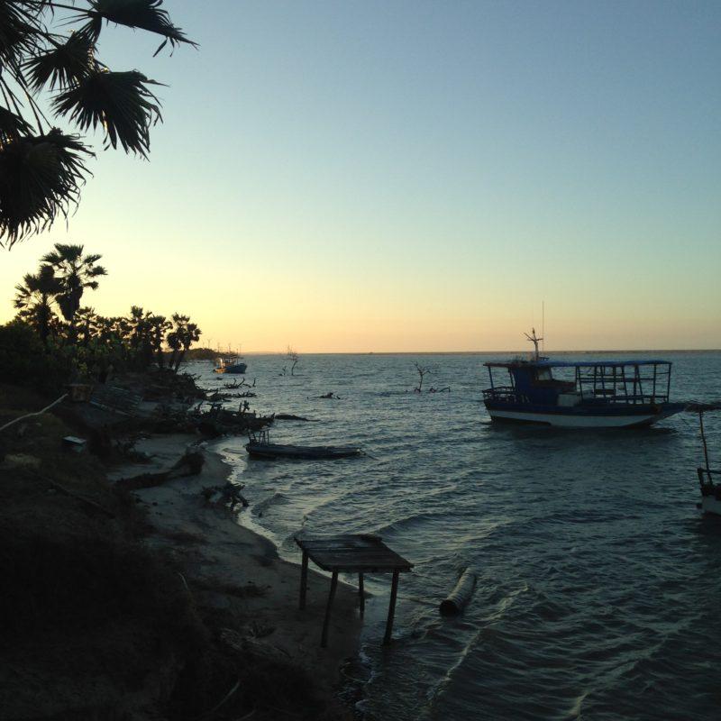 bateau coucher soleil